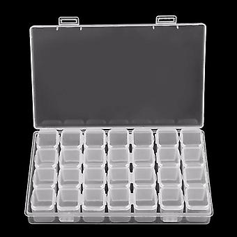 Clear Plastic Empty Storage Box For Nail Art Manicure Tools Jewelry Beads