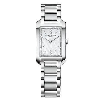 Baume & Mercier BM0A10474 Ορθογώνιο ρολόι χειρός με σετ διαμαντιών στο Hampton