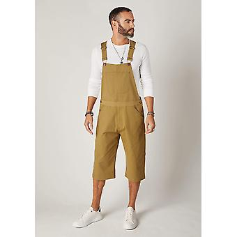 Christopher relaxed fit dungaree shorts - olive