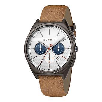 Esprit ES1G062L0045 Slice Chrono Silver Grey Brown Herrenuhr Chronograph