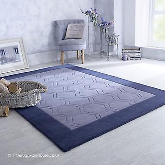 Hex harmaa matto