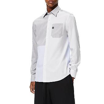 Loewe H526337xa61985 Men's White Cotton Shirt