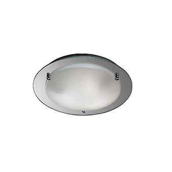 Déco inspiré - Brooklyn - Plafond flush, 450mm Rond, 3 Lumière E27 Chrome poli