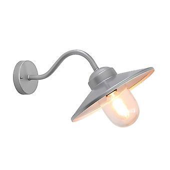 Elstead Klampenborg - 1 lys utendørs fisker dome vegg lanterne lys sølv IP44, E27