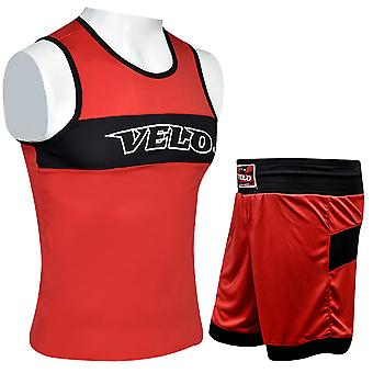VELO Kids Boxing Shorts & Vest Top Set VST3