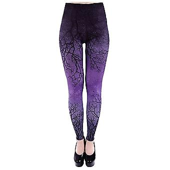 Restyle Purple Branches Ombre Leggings