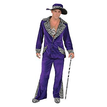 Orion kostuums mens 70s paars fluwelen Pimp Suit gangster Hat nieuwigheid fancy dress