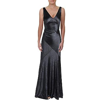 Lauren by Ralph Lauren | Kendalyn Metallic Flowing Evening Dress