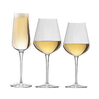 Bormioli Rocco Inalto Uno Small / Medium Wine Glasses & Champagne Flute - Set of 18
