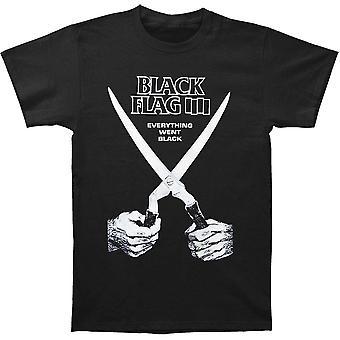 العلم الأسود ذهب كل شيء أسود تي شيرت