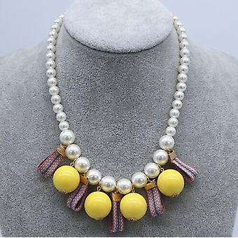 New's Necklace Famous Style Pearl Big Pendant Jewelry