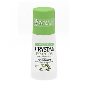 Crystal Body Deodorant Roll On Deodorant, Essence-Vanilla-Jasmine 2.25 Oz