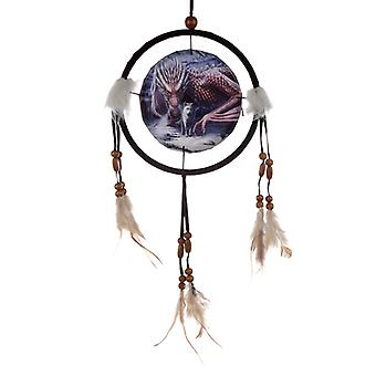 Decorative Lisa Park Dragon and Wolf Alliance 16cm Dreamcatcher