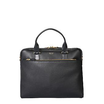 Tom Ford H0426tlgo011u9000 Men's Black Leather Briefcase