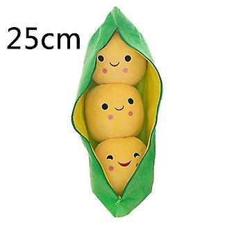 Cute Pea Pods Shape- 3 Beans With Cloth Case, Stuffed Soft Toy (25cm )