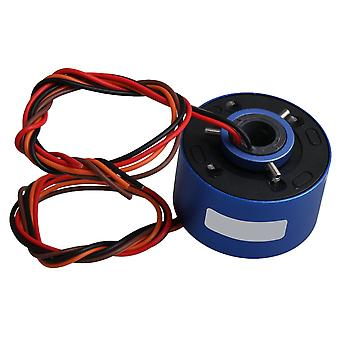Alloy AC/DC380V 10A 4 Circuits Capsule Slip Ring Through Hole Dia 12.7mm