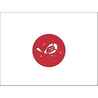 Kitchen Craft Felt Coaster Red Robin x 4 RRCOASTPK4
