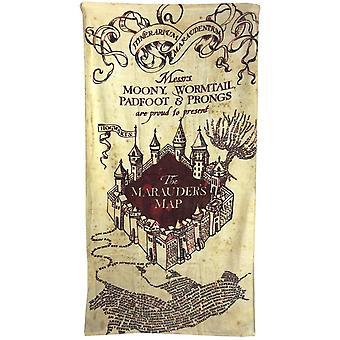 Harry Potter Marauders kartta rantapyyhe
