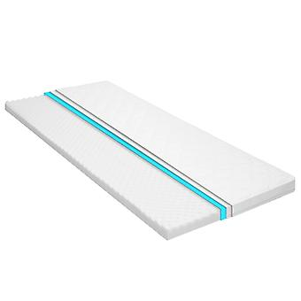 vidaXL mattress topper 80 x 200 cm cold foam egg profile 6 cm