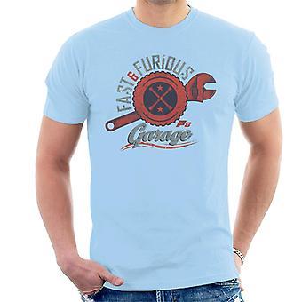 Fast and Furious 8 Garage Logo Men's T-Shirt