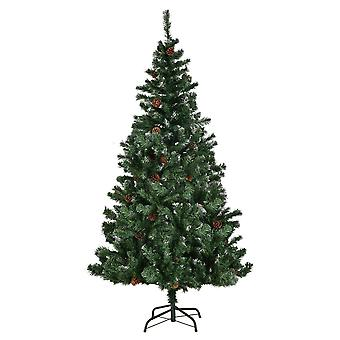 6FT Artificial Christmas Tree Snow Covered Green Xmas Trees Home Decoration