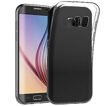 Jetech 0569- case for samsung galaxy s6 edge, shock-absorption cover, clear