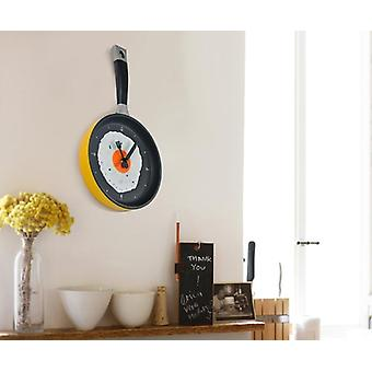 Frying Pan Fried Egg Shaped Wall Clock