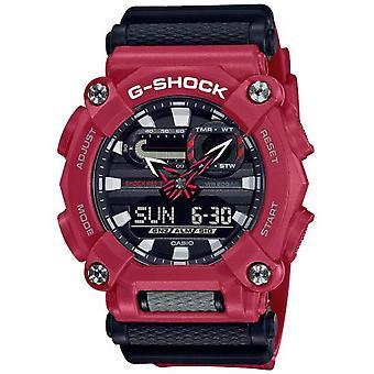 G-Shock GA-900-4AER Heavy Duty Grey & Red Resin Watch