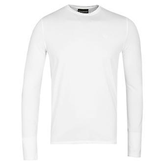 Emporio Armani White Core Eagle Logo Long Sleeve T-Shirt