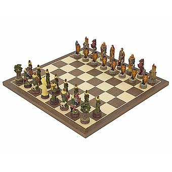 The Robin Hood Hand painted themed Chess set by Italfama