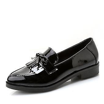 Low Heels Mode Bowtie Plattform weibliche Schuhe / Ferse flache Schuh Casual Schuhe