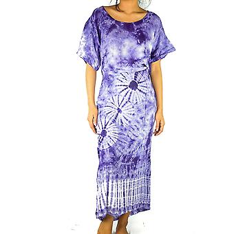 Tie Dye Maxi Dress Boho Kaftan Hippie Dress