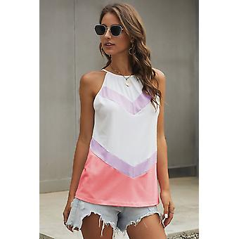 Bonito Violet Chevron Color Block Flowy Tank Top