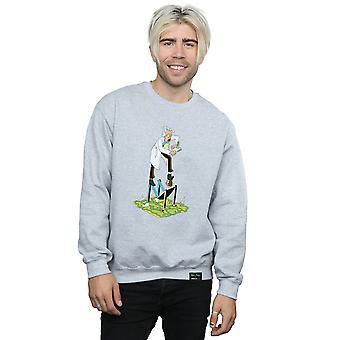 Rick ja Morty miesten tyylitelty merkkiä pusero