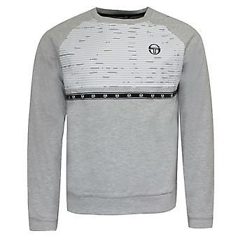 Sergio Tacchini Cass Sweatshirt Taped Branded Jumper Grey 37954 902