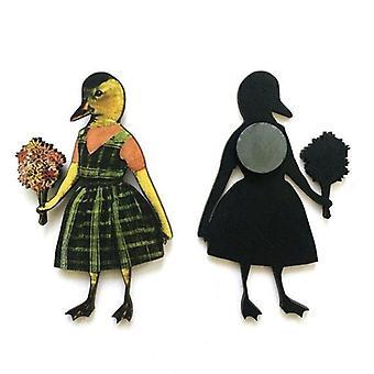 Flower Duck Magnet
