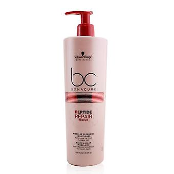 Schwarzkopf BC Bonacure Peptide Repair Rescue Micellar Cleansing Conditioner (For Normal to Thick Damaged Hair) 500ml/16.9oz