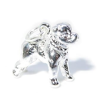 Staffordshire Terrier Cane Sterling Silver Charm .925 X 1 Staffie Charms --sfp - 8556