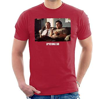 Shaun of the Dead Shaun And Ed Watching TV Men's T-Shirt