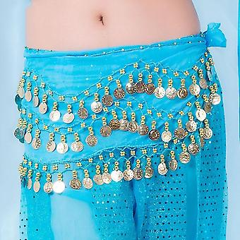 Belly Dance tone Coins Waist Chain Wrap Women Dance Wear Hip Scarf Accessories