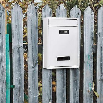 صندوق بريد مثبت على الحائط خمر مع مزيج قفل المعادن ترميز قفل مربع الرسالة