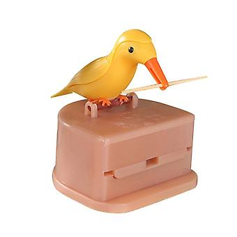 Automatic Bird Toothpick Container, Dispenser Holder Storage, Decoration