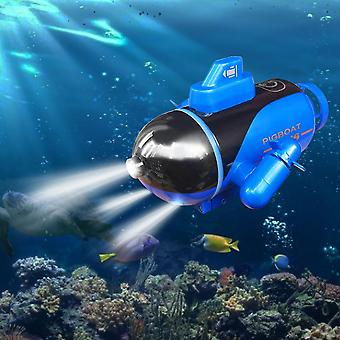 Mini Rc Glowing Submarine Model Toy Electric  Remote Control Boat Submarine