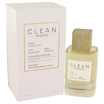Clean Sueded Oud Eau De Parfum Spray By Clean 3.4 oz Eau De Parfum Spray