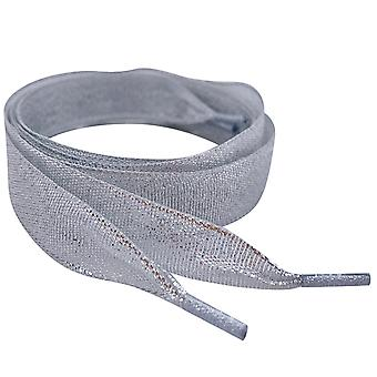 Sparkly Silver Ribbon Shoelaces Laces