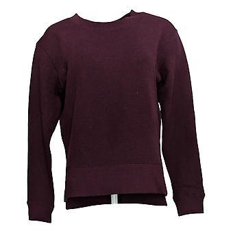 Kirkland Signature Women's Sweatshirt Fleece Crewneck Pullover Red