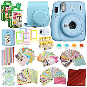 Fujifilm instax mini 11 caméra de film instantanée avec 168 pièces accessoire bundle x2 fujifilm instax mini boîtier de caméra film instantanée avec sangle, ps58375