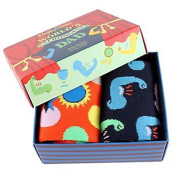 Happy Socks 2-Pack Fathers Day Gift Box Socks - Orange/Navy/Green