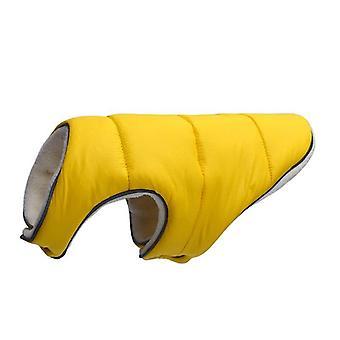 Roupas quentes de cachorro de inverno reflexiva jaqueta de vestuário colete confortável fleece pet
