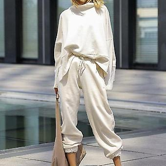 Winter Suits Sets Long Sleeve Pullover Long Trousers Women Sets